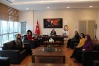 AFYONKARAHISAR TICARET VE SANAYI ODASı - İş Kadınlarından Başkan Serteser'e Ziyaret