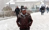 KAR KALINLIĞI - Erzurum'da Kar Yağışı Başladı