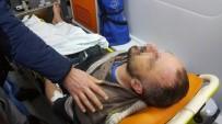 112 ACİL SERVİS - Evinin Önünde Silahlı Saldırıya Uğrayan Kahveci Yaralandı