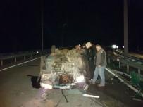 Takla Atan Otomobil Yolu 1 Saat Trafiğe Kapattı