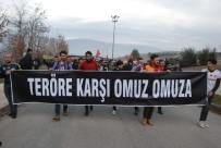 GAZIOSMANPAŞA ÜNIVERSITESI - Üniversiteli Öğrencilerden Teröre Tepki Yürüyüşü
