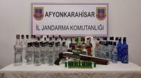 Afyonkarahisar'da Sahte Bandrollü İçki Operasyonu