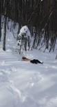 KARATE - Çıplak Dağcı Eksi 5 Derecede Kara Balıklama Daldı...(ÖZEL HABER)