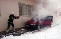 UMURLU - Malatya'da Araç Yangını