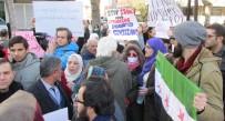 SURIYE DEVLET BAŞKANı - Halep Protestosunda Gerginlik