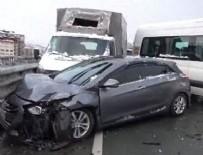 Rize'de 20 aracın karıştığı zincirleme trafik kazası: 8 yaralı
