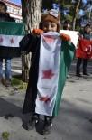 SURIYE DEVLET BAŞKANı - Suriyeliler Halep'te Yaşananlara Tepki Gösterdi