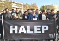 MUSTAFA YıLDıZ - AK Parti Aydın Gençlik Kolları Halep İçin Meydanlarda