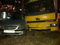 MEHMET AKDAĞ - Kamyon İle Otomobil Çarpıştı Açıklaması 1 Ölü, 1 Yaralı