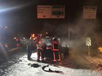 EDIRNEKAPı - Lüks Otomobil Alev Alev Yandı, Sürücü Son Anda Kurtuldu