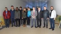 MUSTAFA KAYA - Lüleburgaz TEK Güzel Sanatlar Lisesinden Kaymakam Kaya'ya Ziyaret