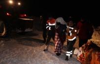 HAMİLE KADIN - Kardan Mahsur Kalan Hamile Kadın 5 Saatlik Çalışmayla Kurtarıldı