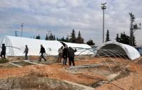 MUSTAFA KEMAL ÜNIVERSITESI - Olası Halep Göçüne Karşı Reyhanlı'ya Bin Kişilik Çadır Kent Kuruluyor