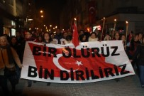 RUMELI - Akhisar'da Teröre Lanet Yürüyüşü