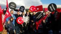 Erzincanlı Gazeteciler Birliği Şehitler Tepesi'nde Dua Etti
