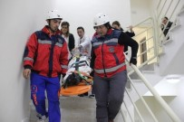 YANGIN TATBİKATI - 400 Yataklı Devlet Hastanesinde 6.5'Luk Deprem Tatbikatı