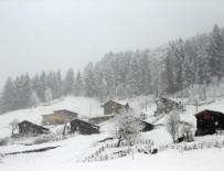 KAYAK MERKEZİ - Ayder Yaylası'nda kar yağışı