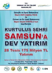 Bakanlar 314 Milyon TL'lik 42 Müjde İle Samsun'a Geliyor