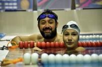 ENGELLİ YÜZÜCÜ - Başkan Murat Hazinedar, Engelli Yüzücüyle Kozlarını Paylaştı