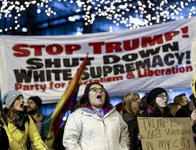 Chicago'da Trump karşıtı gösteri