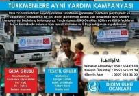 GIDA YARDIMI - Didim Ülkü Ocakları'ndan Türkmenlere Yardım Kampanyası