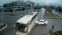 YÜKSEK ATEŞ - Taklalar Atan Otomobilden Yürüyerek Çıktı