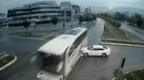 ÖĞRENCİ SERVİSİ - Tokat'ta MOBESE Kameralarına Yansıyan İlginç Trafik Kazaları