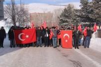Çıldır'da 'Şehitlere Saygı Ve Güvenlik Güçlerine Destek' Yürüyüşü