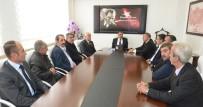 OKUMA SALONU - Sendika Başkanlarından Gürkan'a Ziyaret