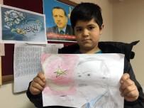 İZMİR MİLLİ EĞİTİM MÜDÜRÜ - Suriyeli Hüseyin, Türkiye Sevgisini Resimlere İşliyor