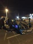 Takla Atıp 25 Metre Sürüklenen Aracın Sürücüsü Burnu Bile Kanamadan Kurtuldu