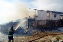 AHŞAP EV - 7 Kişilik Aile, Kış Günü Yangında Evsiz Kaldı