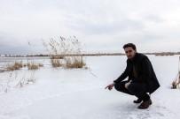 KUŞ CENNETİ - Ahlat'taki 'Kuş Cenneti' Dondu