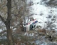 Hasta Almaya Giden Ambulans Şarampole Yuvarlandı