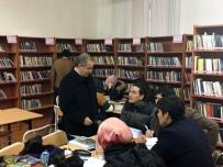 Karaman Valisi Tapsız'dan Kütüphane Ziyareti