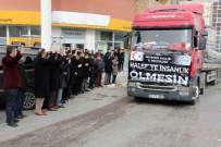 Nevşehir'den Halep'e 11 Tır Gıda Yardımı Gönderildi