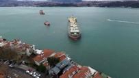 KIYI EMNİYETİ - Yeniköy'de Gemiyi Kurtarma Çalışmaları Havadan Görüntülendi
