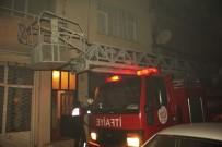 ÇALIŞAN KADIN - Kadın Personel Evinde Yangın Çıktı