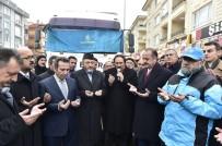 ABDULLAH ÖZER - Halep İçin Toplanan Yardımlar Uğurlandı