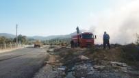 Milas'ta Dolgu Alanında Yangın