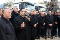 YARDIM KONVOYU - Uşak'tan Halep'e Yardım Tırları Yola Çıktı
