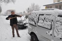 Pazar Gününe Kar İle Uyanan Erzincan