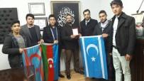 MEZHEP - Türkmen Meclisinden Kızılay Şube Başkanı Yalçın'a Teşekkür Plaketi