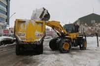 Belediye Kar Yığınlarını Kamyonlarla Şehir Dışına Taşıyor