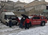 DONMA TEHLİKESİ - ŞAHKUT'tan Şoförlere Yardım Eli
