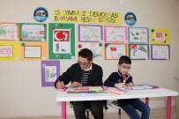 ENGELLİ ÖĞRENCİ - Engelli öğrenciler 15 Temmuz'u resmetti