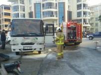 YANGIN TÜPÜ - Servis Otobüsünde Yangın Çıktı
