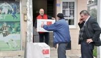 Yangınzede Vatandaşlara Kızılay'dan Yardım