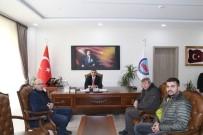 MURAT AYDıN - Oltulu Basın Mensupları Kaymakam Turan'ı Ziyaret Etti