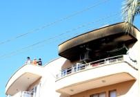 İTFAİYE ARACI - Antalya'da Ev Yangını Korkuttu